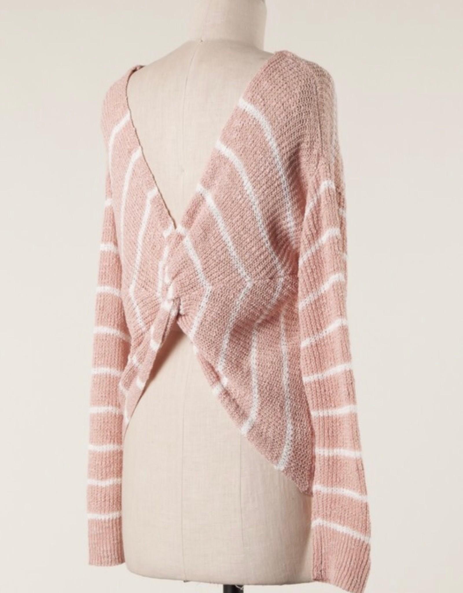 LATA Knot Back Sweater