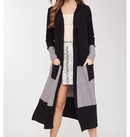 LATA Annette Color Block Maxi Cardi