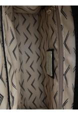 LATA Charlotte woven reptile clutch