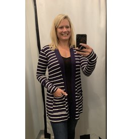 LATA Striped Cardigan