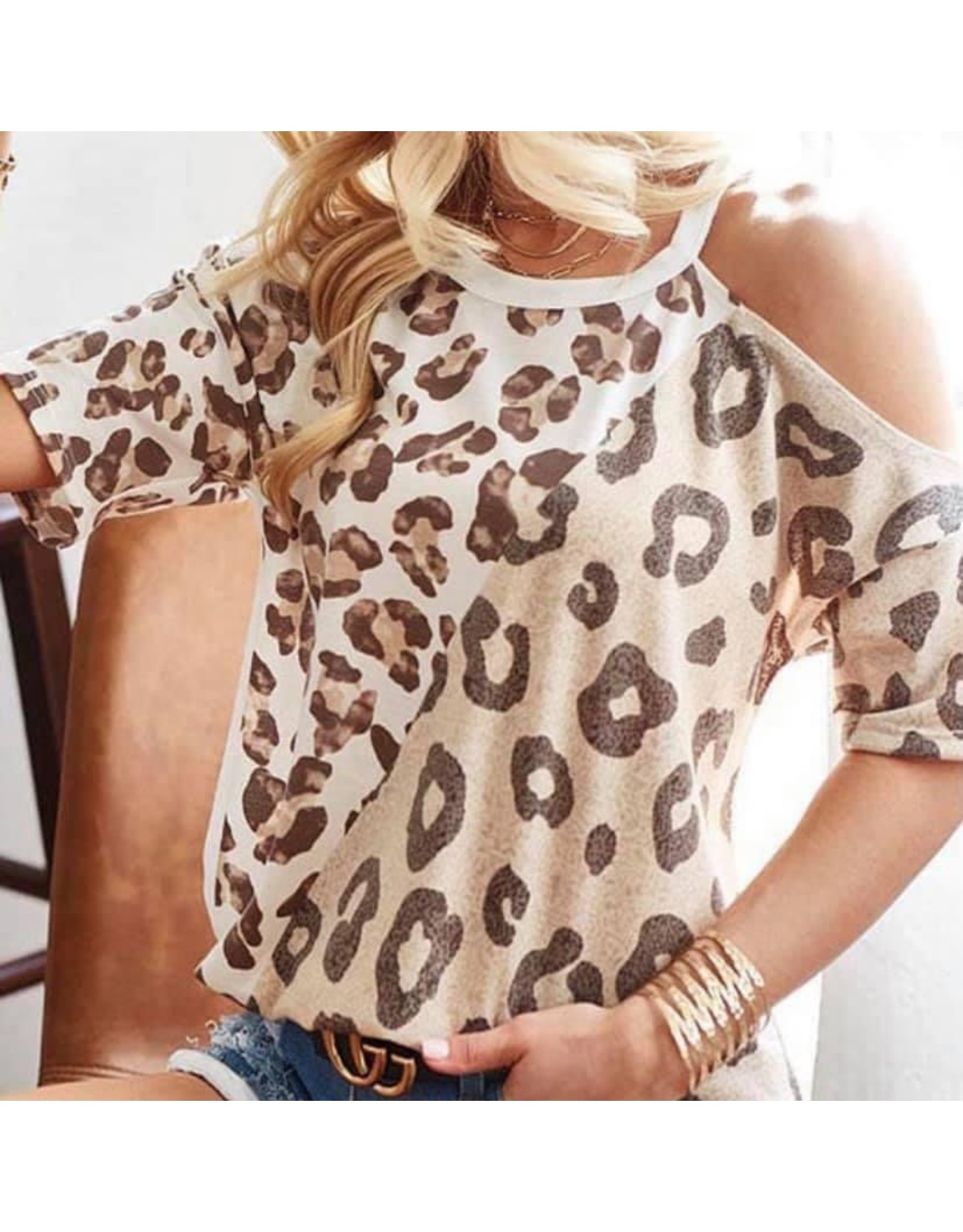 LATA Leopard Open Shoulder