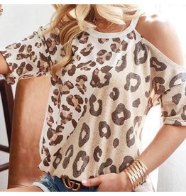 LATA Leopard Open Shoulder