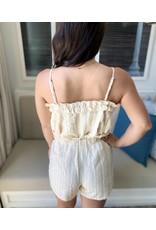 LATA Ruffle Tie Shorts
