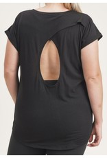 LATA Plus Overlay Cut-Out Back Top