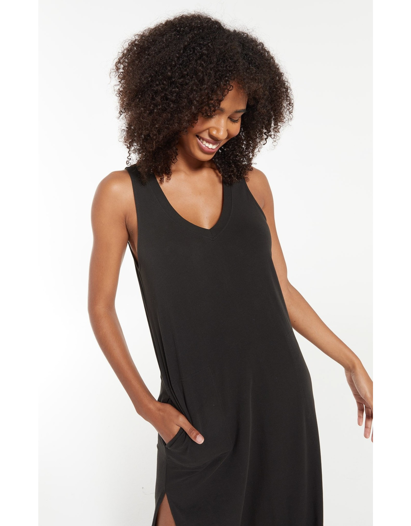 Z Supply Kinley Midi Black Dress