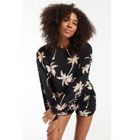 Z Supply Z SUPPLY Kai Tropical Sweatshirt- Washed Black