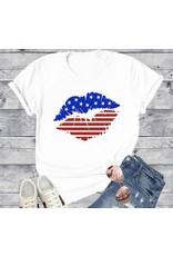LATA American Flag Kiss Tee