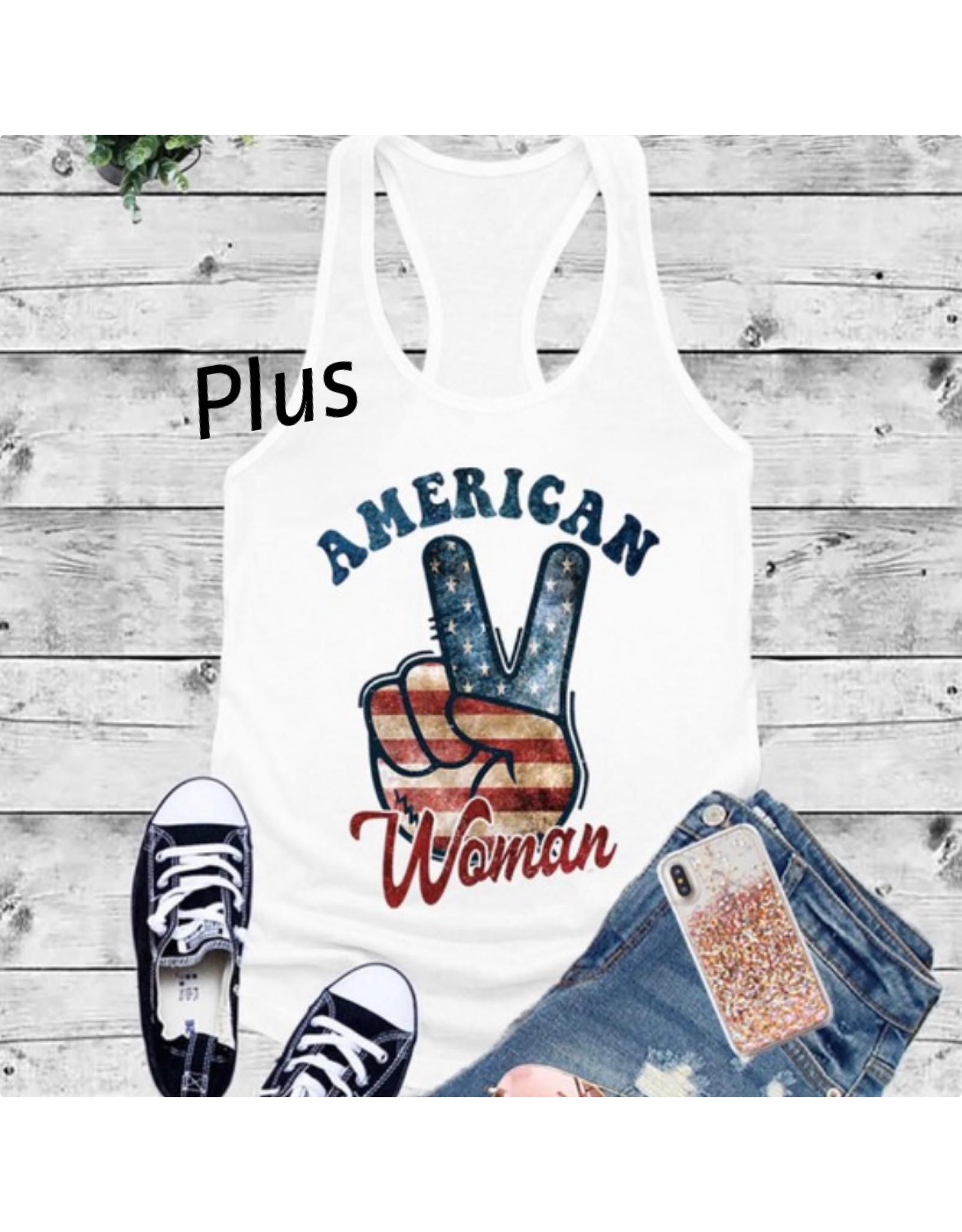 LATA Plus American Woman Tank