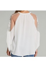 LATA Embroidered Shoulder Top