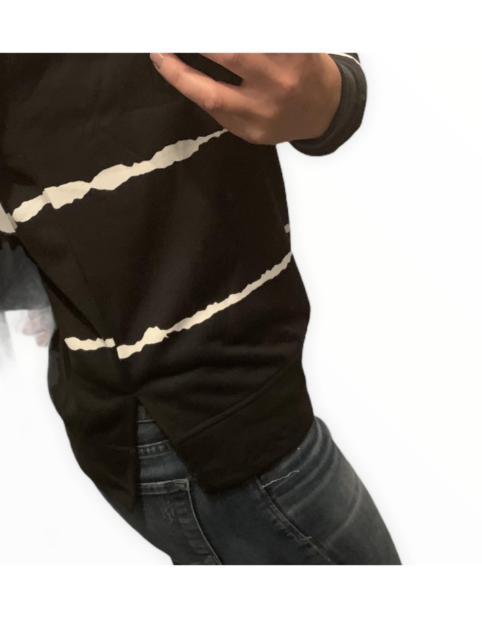 LATA Black and white stripe sweatshirt