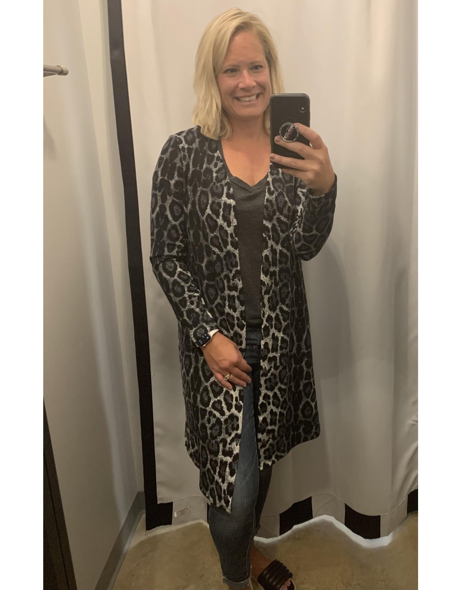 LATA Leopard Long Cardi
