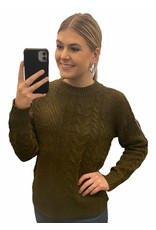 LATA Night Out Knit Open Shoulder Sweater