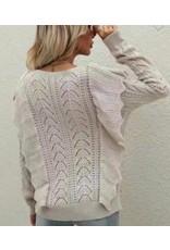 LATA Oats-N-Honey Ruffle Sweater