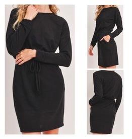 LATA Better in Black Tie Waist Dress