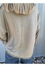 LATA Say Yes Olive Detailed Top