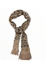 LATA Sparkling Cheetah Scarf