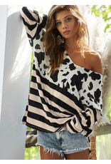 LATA Spotted Print Top
