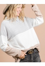 LATA Show Must Go On Color Block Turtle Neck