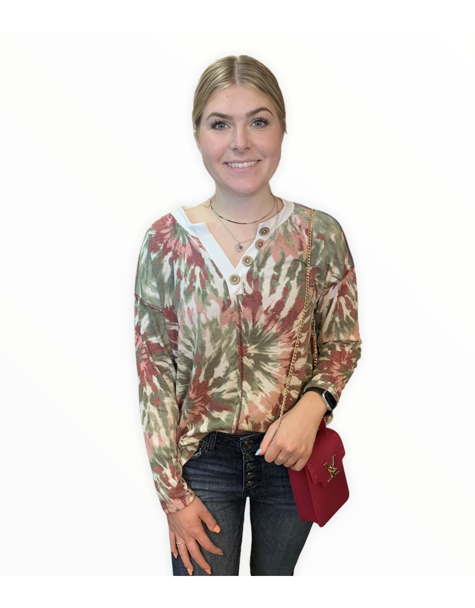 LATA Magical Memories Tie Dye French Terry Knit