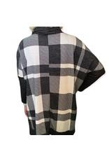 LATA Checkmate Hi-Low Checkered Poncho