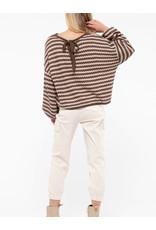 LATA Chocolate Almond Sweater w/ Balloon Sleeves