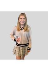LATA Back To School Khaki Sweater
