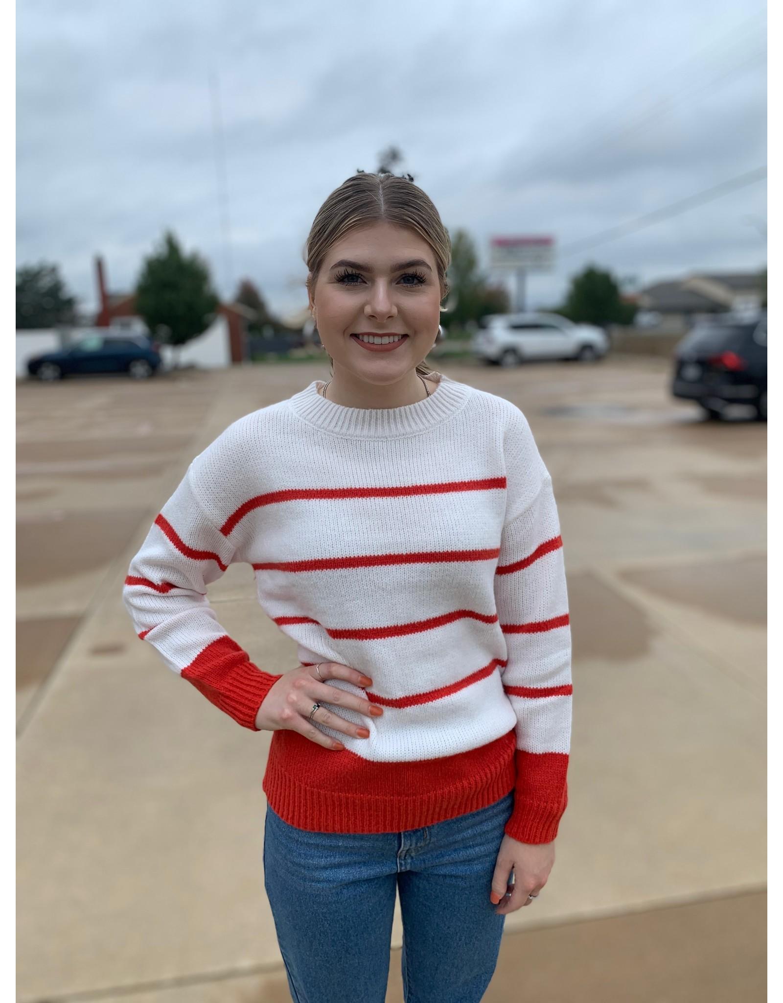LATA REDy For Autumn Stripe Sweater