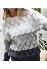 LATA Twist It Textured Sweater
