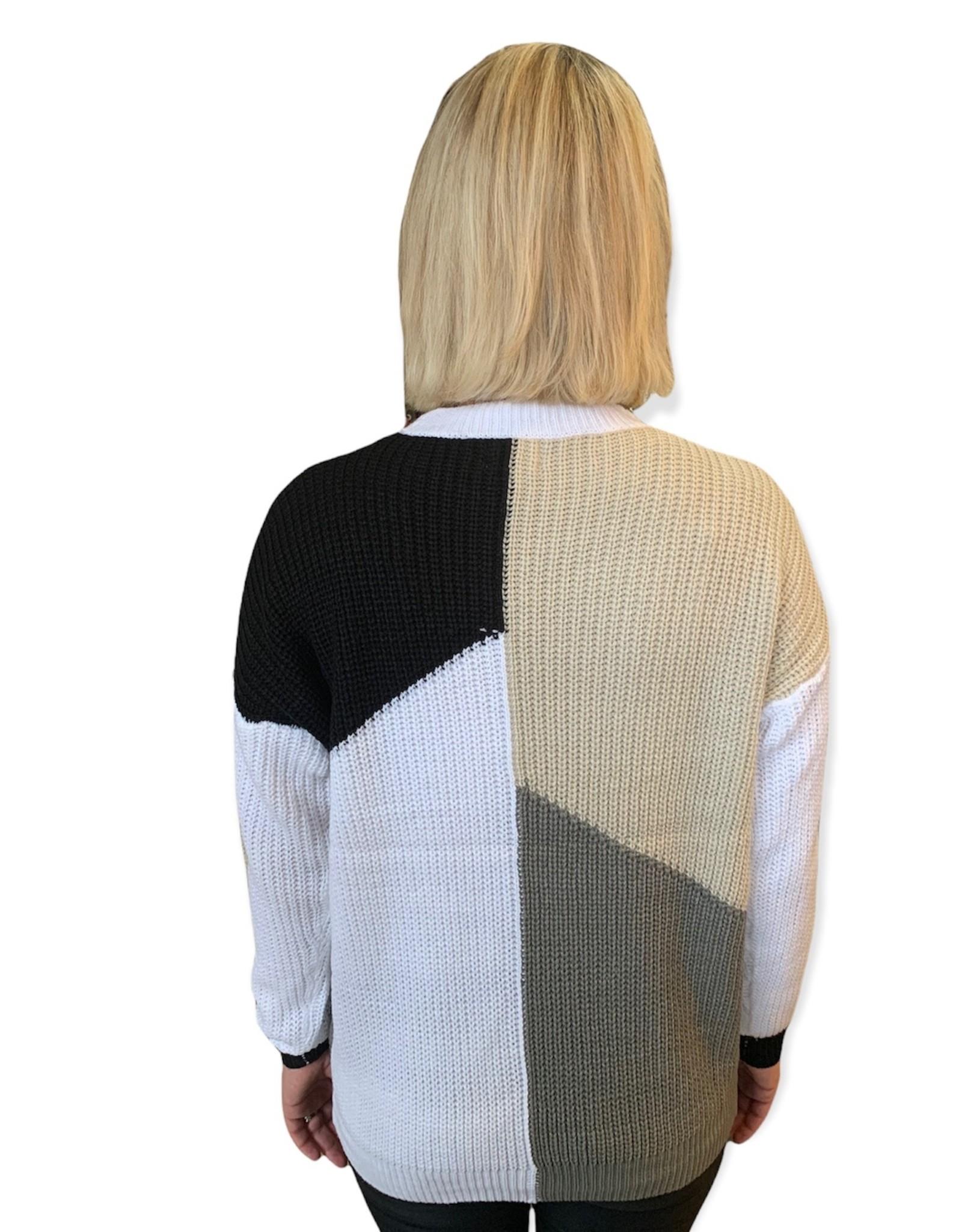 LATA Jamie Color Block Sweater
