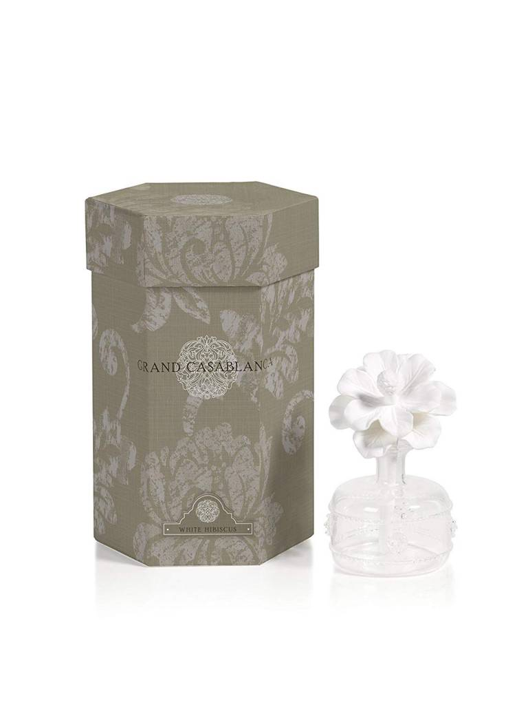 Grand Casablanca Porcelain Diffuser White Hibiscus Sanctuary Home