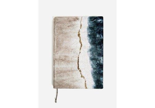 Geode Dip Dye Medium Slim Velvet Journal