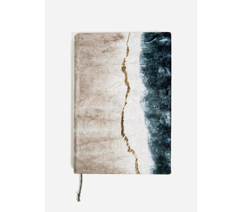 Geode Dip Dye Medium Slim Velvet Journal