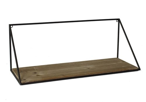 Hull Wood & Iron Shelf - Large