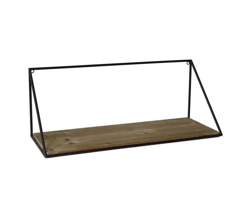 Hull Wood & Iron Shelf - Large