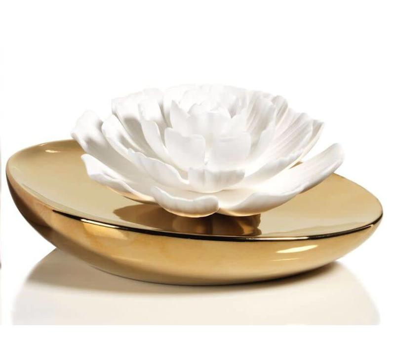 Dream Porcelain Flower Diffuser - White Rose