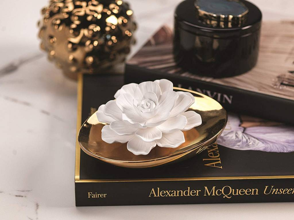 Dream Porcelain Flower Diffuser White Rose Sanctuary Home And Gift