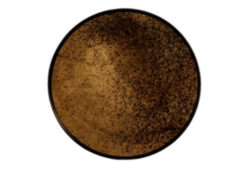 Round Bronze Mirrored Tray - Small
