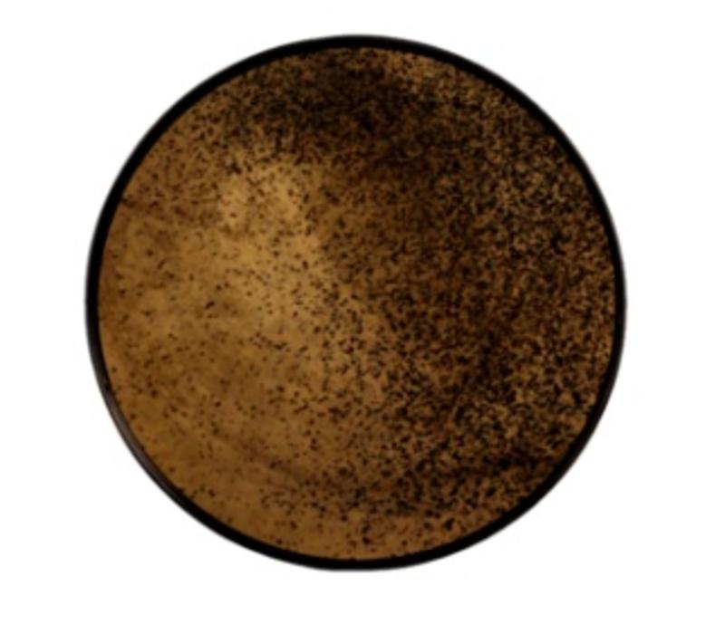 ROUND BRONZE MIRRORED TRAY - SMALL