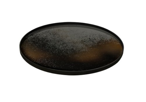 Round Bronze Mirrored Tray - Large