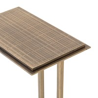 Acid Etch C Table-Brass