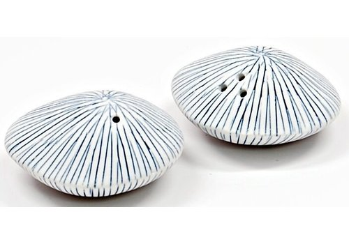 Blue & White Sea Shell Salt & Pepper Shaker