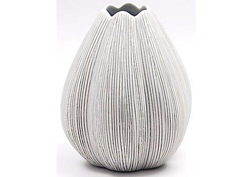 Champa Beige & Blue Tulip Vase