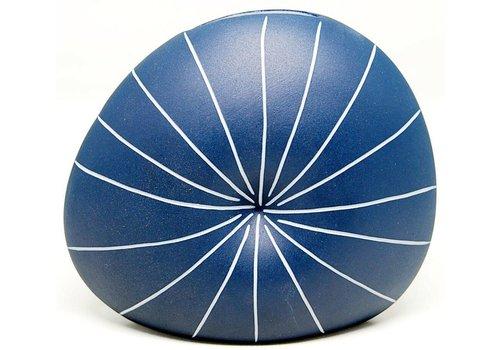 Diva Small Round Blue Vase
