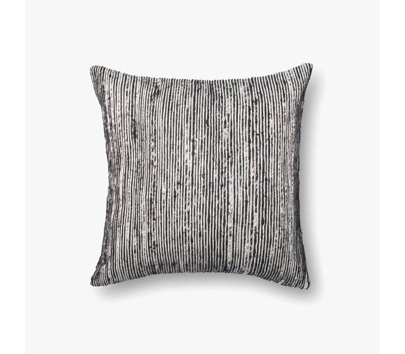 "Sari Black 22"" Accent Pillow"