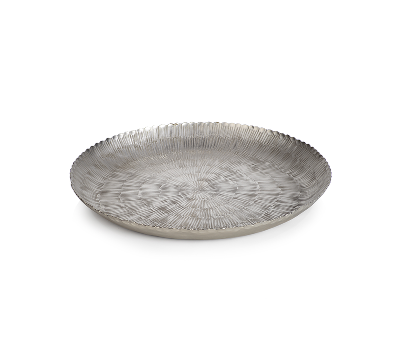 Serendra Hammered Nickel Tray