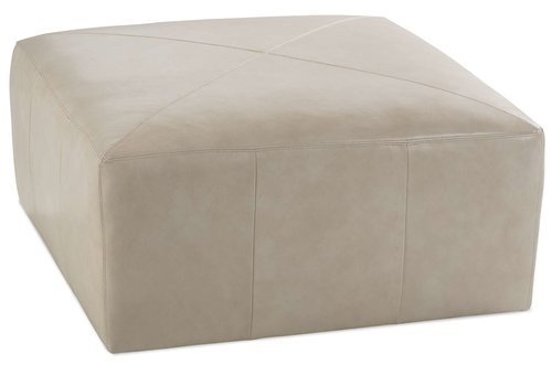 Miles Square Leather Ottoman