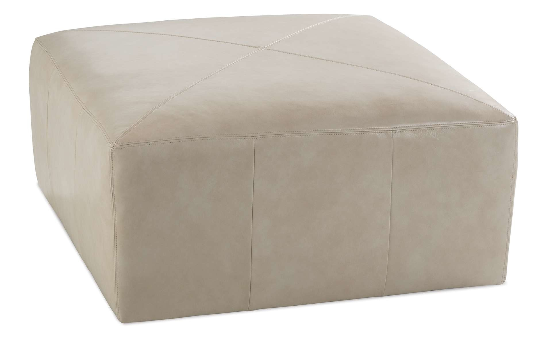 Miles Square Leather Ottoman Sanctuary Home And Gift