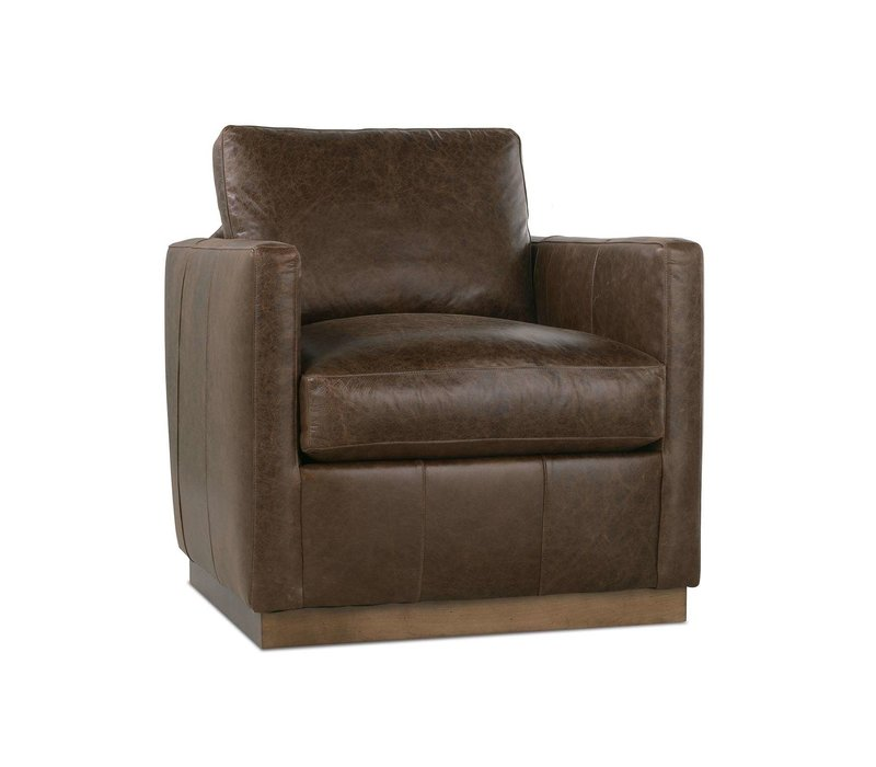 Allie Leather Swivel Chair
