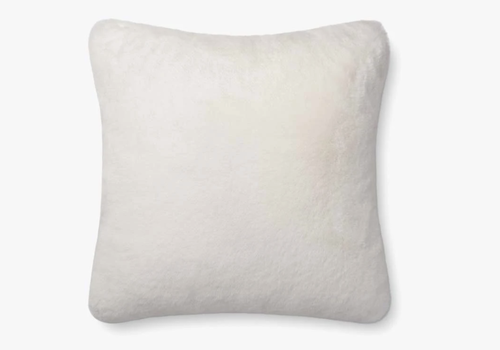 "Loloi White 22"" X 22"" Pillow"