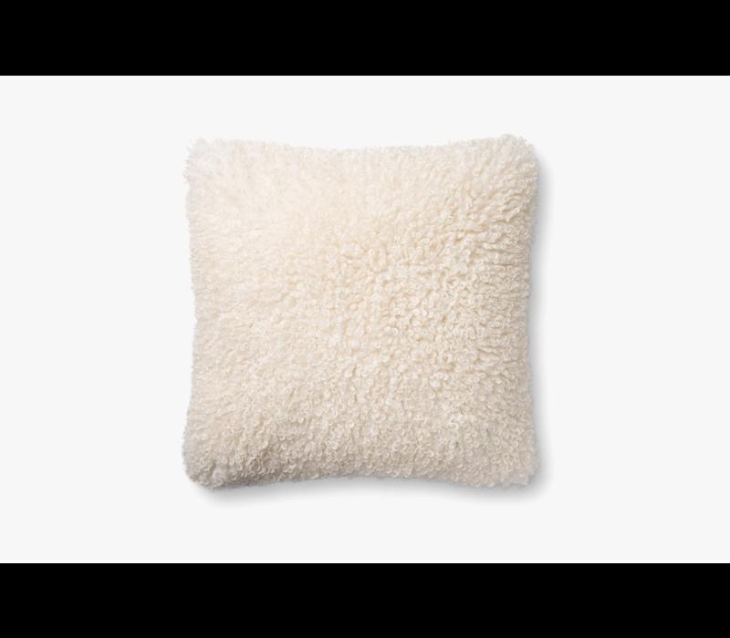 """White 22"""" x 22"""" Pillow"""